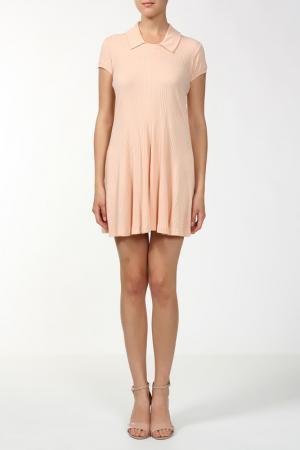 Платье джерси Aiko. Цвет: розовый