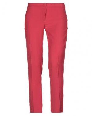 Повседневные брюки DANIELA DREI. Цвет: красный