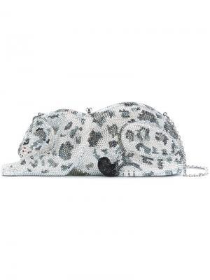 Клатч snow leopard Judith Leiber Couture. Цвет: чёрный