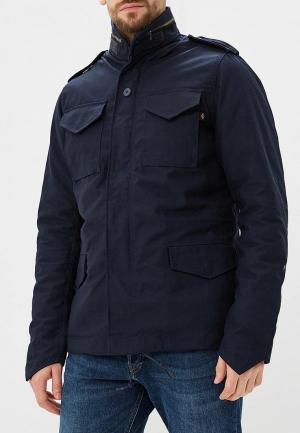 Куртка утепленная Alpha Industries M-65 Heritage. Цвет: синий