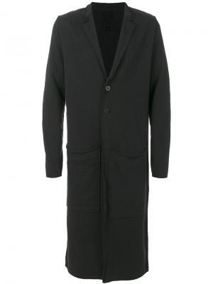 Удлиненное пальто с лацканами Thom Krom. Цвет: чёрный