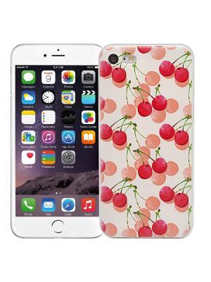 Чехол для iPhone 7 Вишенки Kawaii Factory. Цвет: лиловый, белый