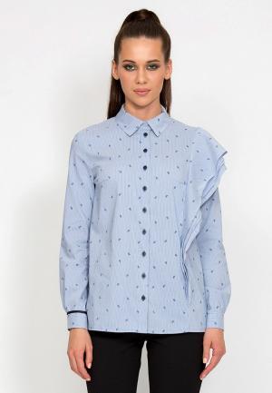 Рубашка D.VA MP002XW1GLOI. Цвет: голубой