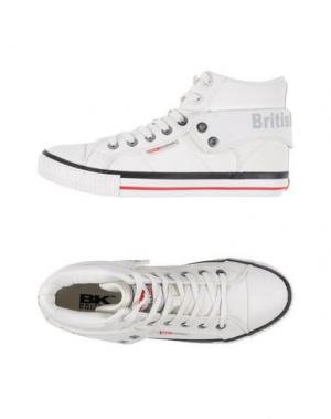 Высокие кеды и кроссовки BRITISH KNIGHTS. Цвет: белый