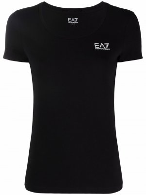 Logo skinny t-shirt Ea7 Emporio Armani. Цвет: черный