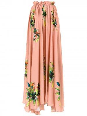 Длинная юбка Amir Slama. Цвет: нейтральные цвета