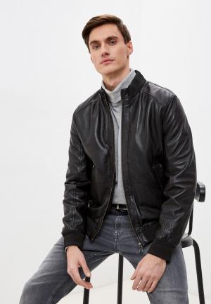 Куртка кожаная Daniel Hechter LEATHER-BLOUSON. Цвет: черный