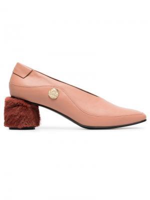 Туфли-лодочки на каблуке 60 с мехом Reike Nen