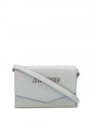 Картхолдер Le Porte Azur Jacquemus. Цвет: серый
