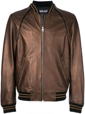 Куртка-бомбер с полосками Just Cavalli. Цвет: коричневый