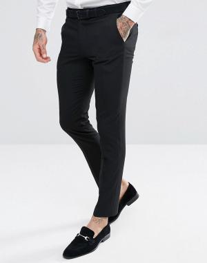 Черные брюки скинни под смокинг Harry Brown. Цвет: черный