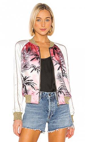 Куртка colorblock Pam & Gela. Цвет: розовый