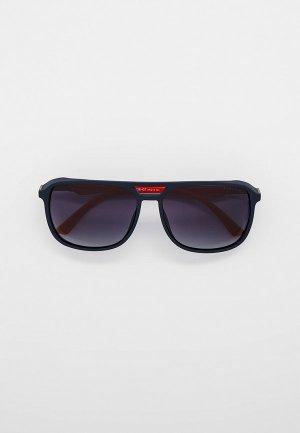Очки солнцезащитные Thom Richard с поляризационными линзами. Цвет: синий
