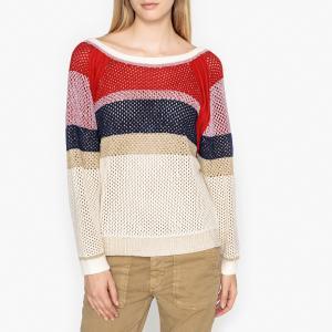 Пуловер из ажурного сетчатого трикотажа HERA BA&SH. Цвет: разноцветный