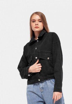 Куртка джинсовая Dorogobogato. Цвет: черный