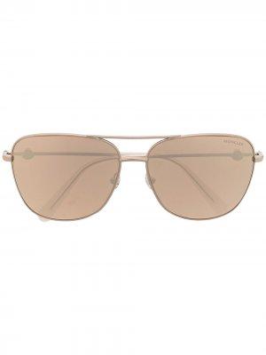 Солнцезащитные очки-авиаторы Moncler Eyewear. Цвет: розовый