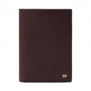 Кожаная обложка для паспорта Tom Ford. Цвет: красный