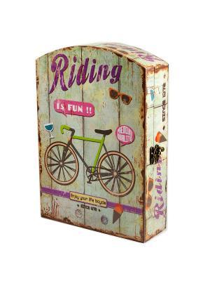Ключница Велосипед Русские подарки. Цвет: бежевый
