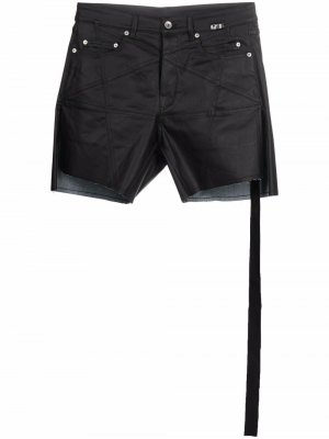 Wax-coated denim shorts Rick Owens. Цвет: черный