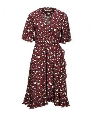 Платье до колена DRY LAKE.. Цвет: красно-коричневый
