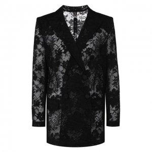 Жакет из смеси хлопка и вискозы Givenchy. Цвет: чёрный