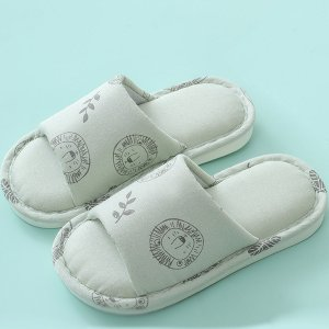 Мультяшные шлепанцы с открытым носком для девочек Toddler Girls SHEIN. Цвет: зелёные