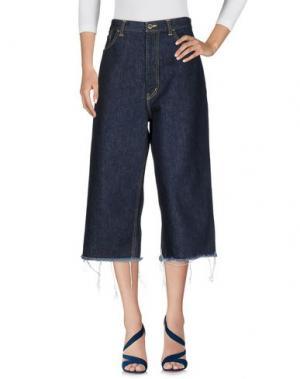 Джинсовые брюки-капри FACETASM. Цвет: синий