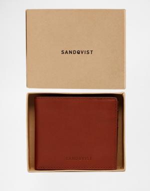 Кожаный складной бумажник Bill Sandqvist. Цвет: коричневый