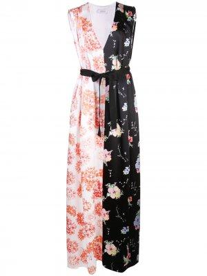 Платье с поясом и принтом Arias