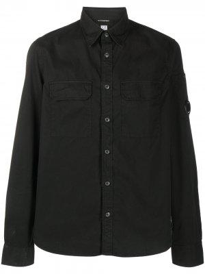 Рубашка с нашивкой-логотипом C.P. Company. Цвет: черный