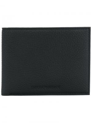 Классический бумажник Emporio Armani. Цвет: чёрный