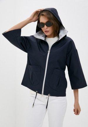Куртка Снежная Королева. Цвет: синий