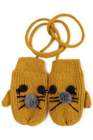 Варежки PlayToday. Цвет: желтый