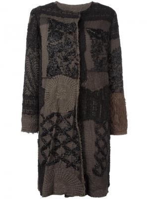 Пальто с панельным дизайном By Walid. Цвет: чёрный