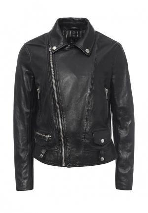 Куртка кожаная Blouson BL033EWQGN34. Цвет: черный