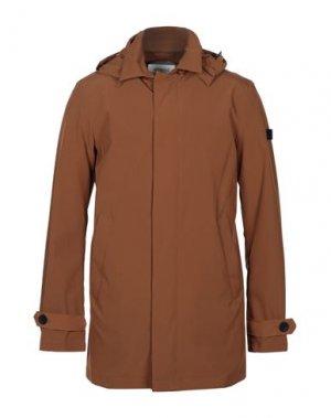 Легкое пальто HETREGO'. Цвет: коричневый