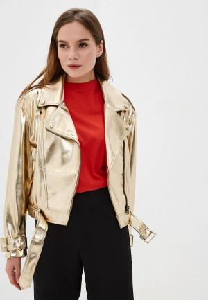 Куртка кожаная Imperial. Цвет: золотой