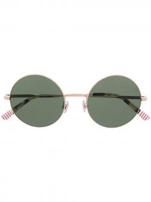 Солнцезащитные очки Camden в круглой оправе Etnia Barcelona. Цвет: золотистый