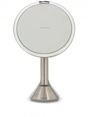 Круглое зеркало 8 с сенсорной подсветкой Simplehuman. Цвет: серебристый