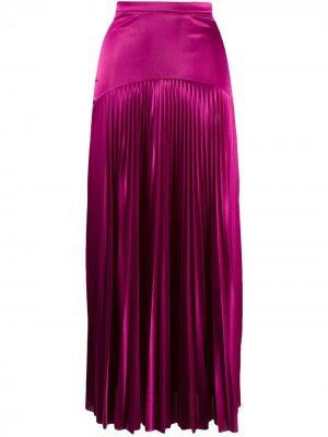 Длинная плиссированная юбка Christopher Kane. Цвет: розовый