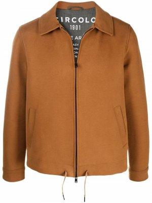 Куртка-рубашка на молнии Circolo 1901. Цвет: коричневый