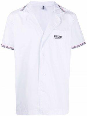 Пижама с логотипом Moschino. Цвет: белый