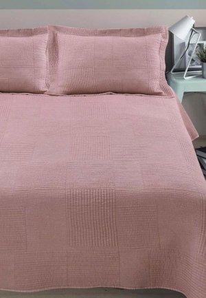 Комплект с покрывалом Arya home collection Elexus. Цвет: розовый