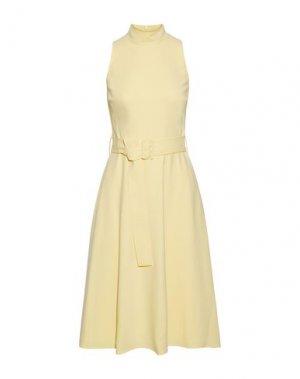 Платье длиной 3/4 BLACK HALO. Цвет: желтый