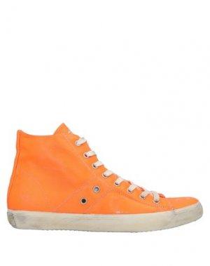 Высокие кеды и кроссовки LEATHER CROWN. Цвет: оранжевый
