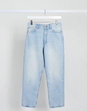 Голубые джинсы в винтажном стиле с завышенной талией Taiki-Синий Monki
