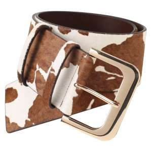Ремень Ekonika EN32438-brown-cow-21Z. Цвет: коричневый/белый