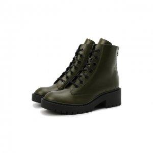 Кожаные ботинки Kenzo. Цвет: хаки