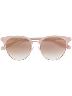 Солнцезащитные очки в круглой оправе Stella Mccartney Eyewear. Цвет: телесный