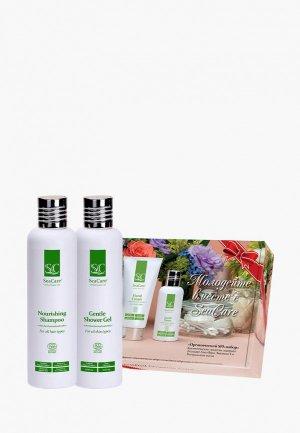Набор для тела и волос SeaCare органический  СПА №4, шампунь 250 мл + гель душа. Цвет: зеленый